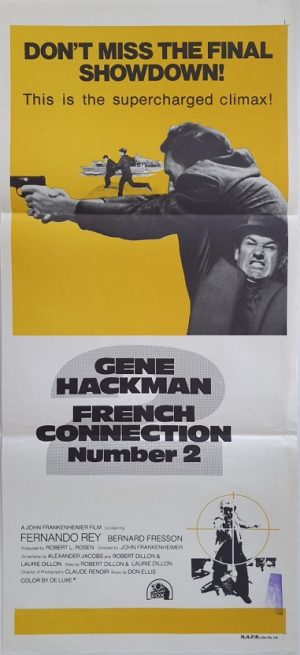 french connection number 2 australian daybill poster with gene hackman 1975