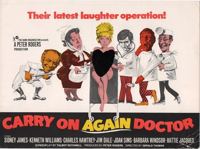 carry on again doctor 1969 UK info sheet
