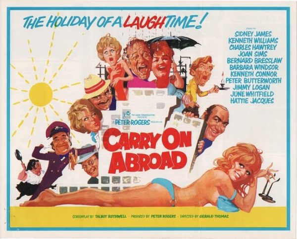 carry on abroad 1972 UK info sheet