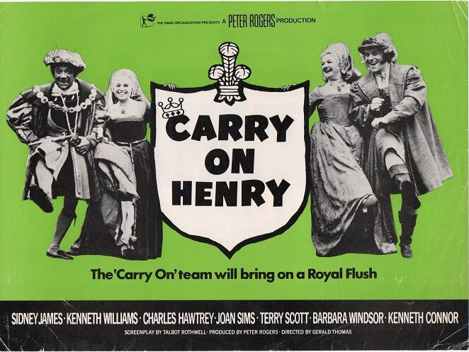 carry on henry 1971 UK info sheet