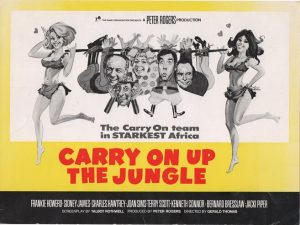 carry on up the jungle 1970 UK info sheet