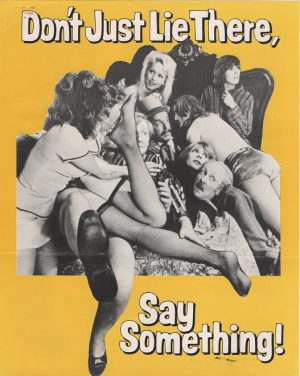 don't just lie there, say something! UK info sheet 1974