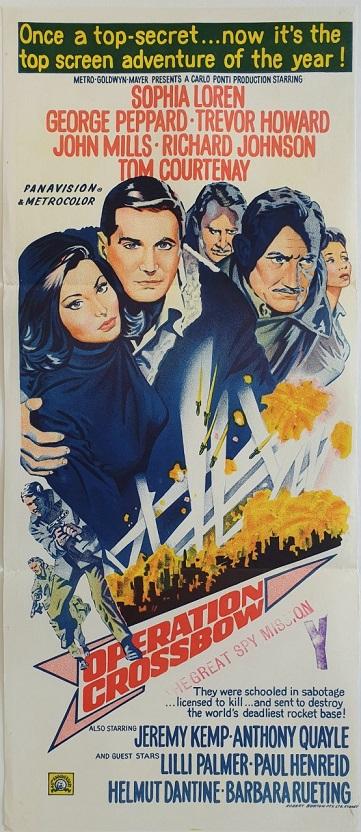 operation crossbow daybill poster 1965 ww2 movie