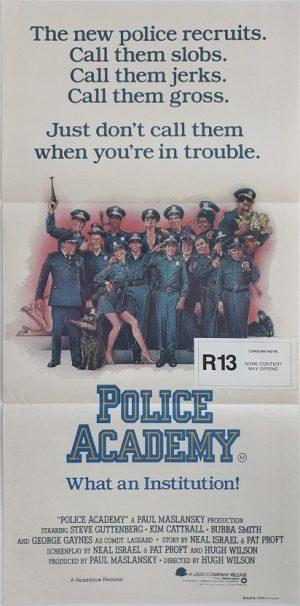 police academy australian daybill poster