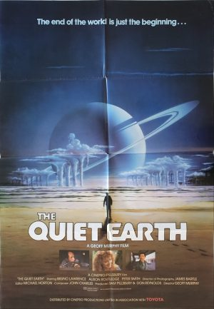 quiet earth new zealand one sheet sci fi movie poster 1985
