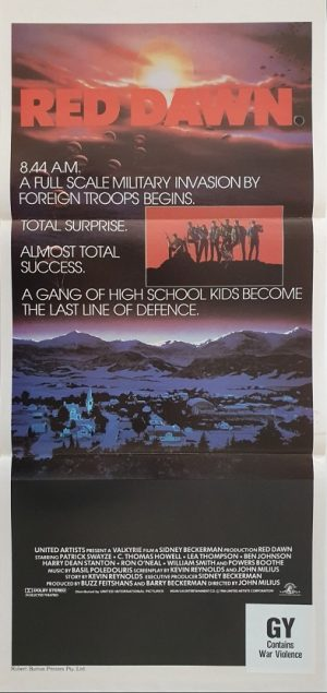 red dawn australian daybill poster