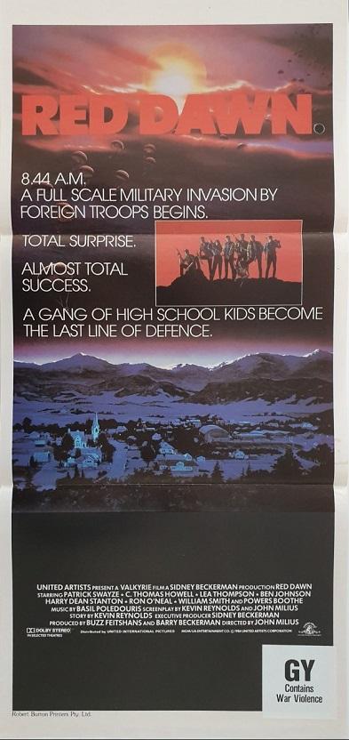 red dawn australian daybill poster