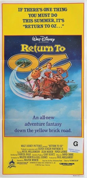 return to oz australian daybill poster 1985