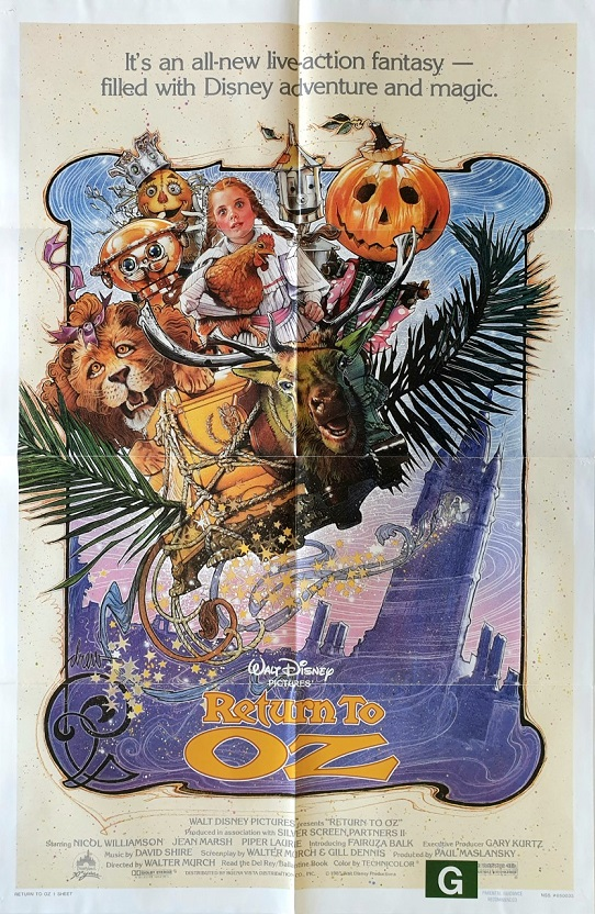 return to oz us one sheet move poster 1985