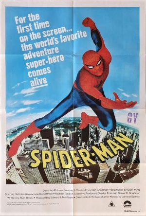 spider-man 1977 australian one sheet movie poster