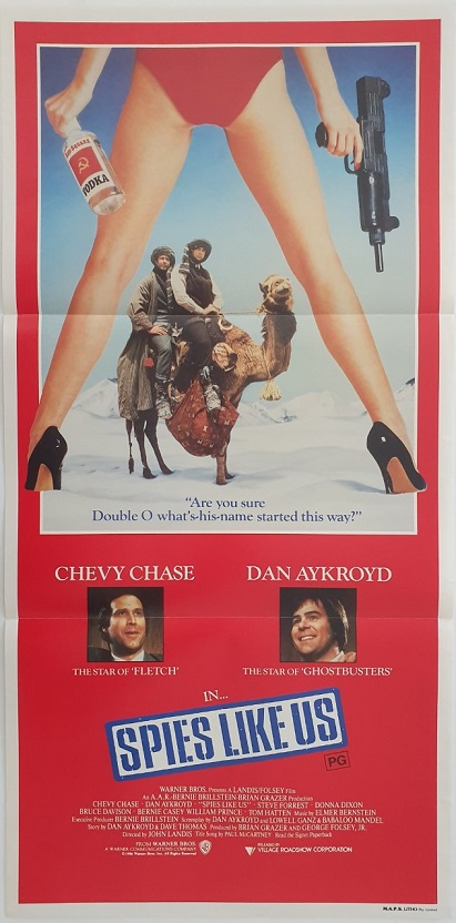 spies like us australian daybill poster 1985