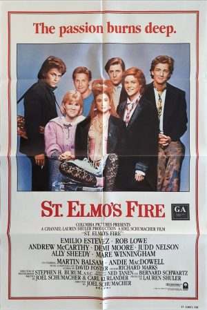 st. elmo's fire 1985 us one sheet movie poster