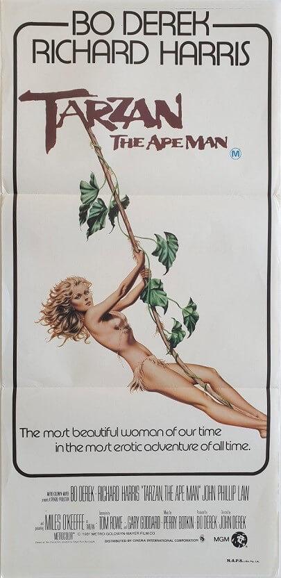 tarzan the ape man daybill poster with bo derek 1981