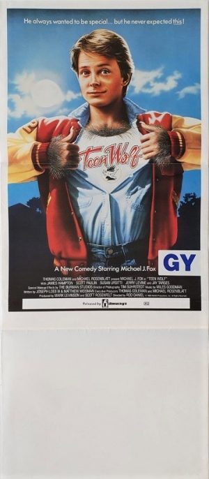 teen wolf australian daybill poster with michael j fox 1985
