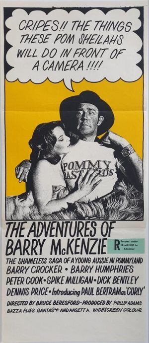 the adventures of barry mckenzie australian daybill poster 1972