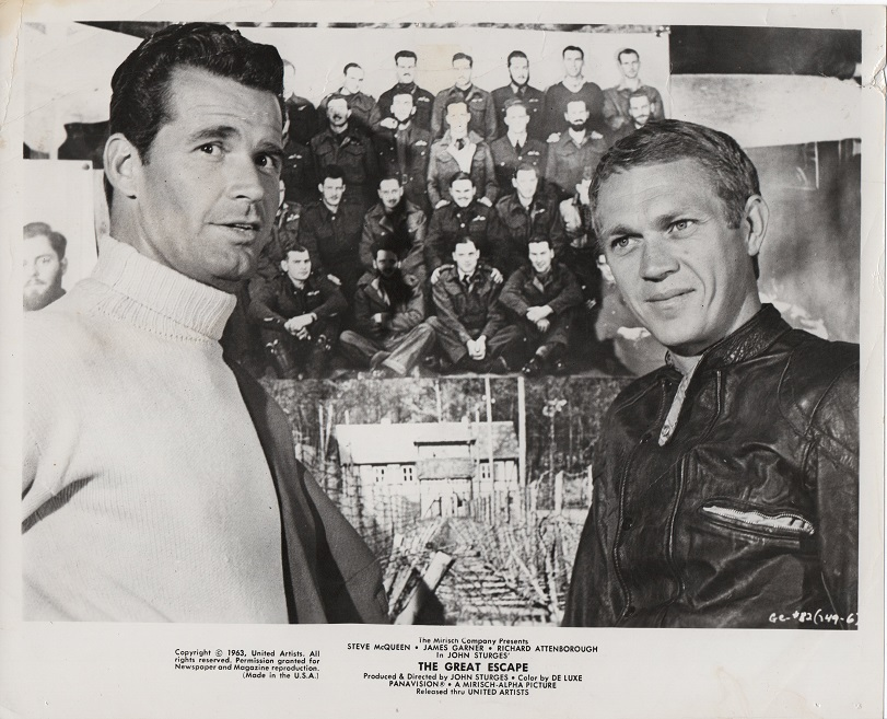 the great escape US publicity still 8 x 10 steve mcqueen and james garner