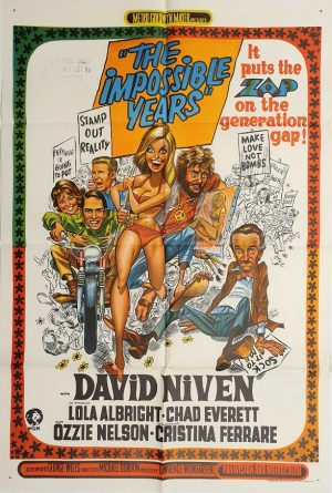 the impossible years australian one sheet movie poster with david niven 1968