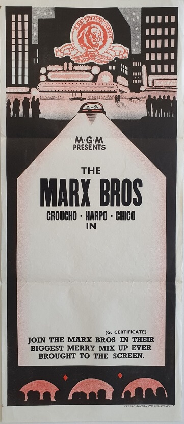 the marx brothers stock daybill poster