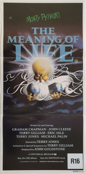 the meaning of life monty python daybill poster 1983