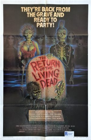 the return of the living dead 1985 us one sheet movie poster