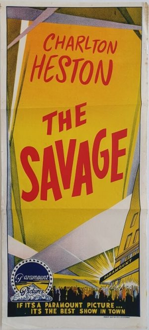 the savage stock daybill poster with charlton heston