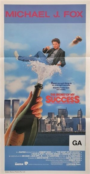 the secret of my success australian daybill poster with michael j fox 1987