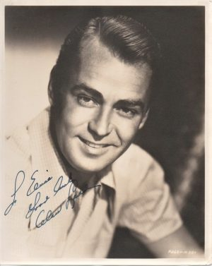 Alan Ladd 1950's signed portrait