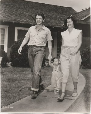 Audie Murphy with Wife and Son 1950s Publicity Still 1950s