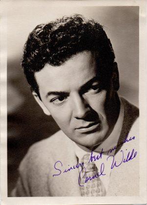 Cornel Wilde 1940s signed portrait