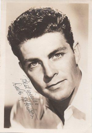 Dale Robertson 1950s signed portrait