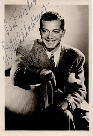 Dana Andrews 1940s signed portrait