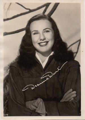 Deanna Durbin 1940s fan club publicity portrait