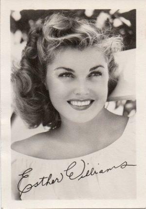 Esther Williams 1940s small fan club publicity portrait