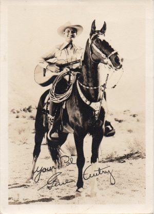 Gene Autry 1940s fan club portrait