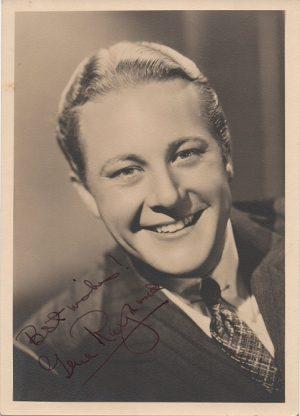 Gene Raymond 1940s signed portrait
