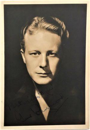 Gene Raymond 1940s signed publicity portrait