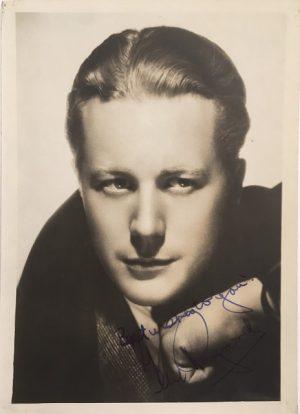 Gene Raymond 1930s signed publicity portrait