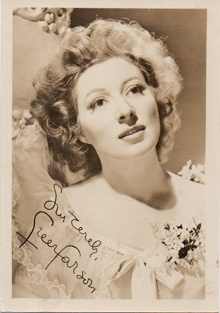 Greer Garson 1940s small fan club publicity portrait