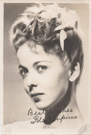 Ida Lupino 1940s signed portrait