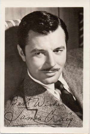 James Craig 1940s fan club publicity portrait