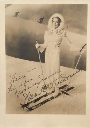 Jeanette MacDonald Broadway Serenade publicity portrait 1940s