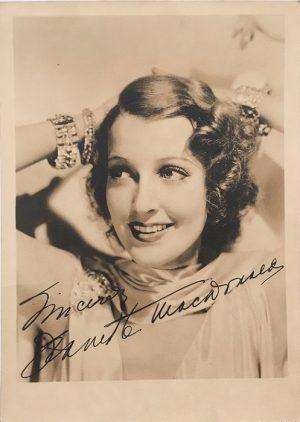 Jeanette MacDonald publicity portrait 1930s