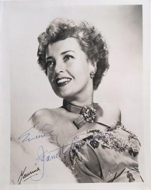 Jeanette MacDonald signed autographed portrait 1940s 3