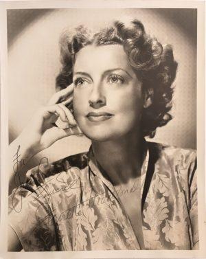 Jeanette MacDonald signed autographed portrait 1940s 4