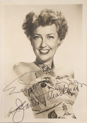 Jeanette MacDonald signed autographed portrait 1940s 5