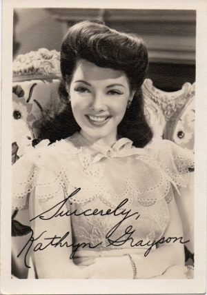 Kathryn Grayson small fan club publicity portrait