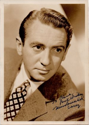 Macdonald Carey 1940s signed portrait