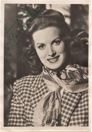 Maureen O'Hara 1940s signed publicity portrait