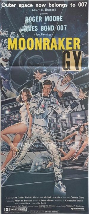 Moonraker daybill poster with roger moore 007