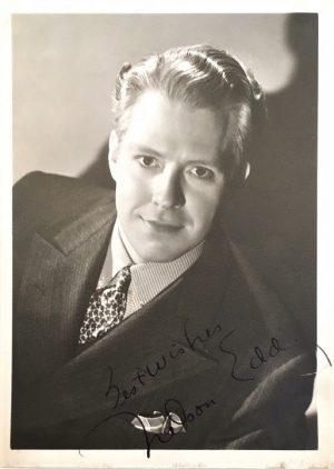 Nelson Eddy publicity portrait 1930s